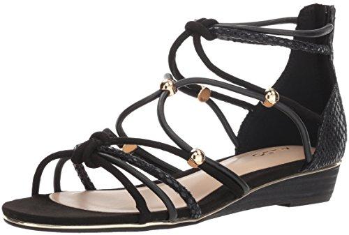 ALDO Women's MURIELE Flat Sandal Black Miscellaneous 8 B US