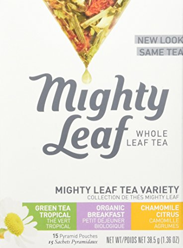 Mighty Leaf Tea Variety Pack, 15 Pouches Mightly Leaf Tea