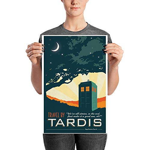 We're All Stories, in The End. Just Make It A Good One, Eh? - Travel by Tardis, Dr. Who TV Series, Poster, Printable Art, Home Decor, Wall Art, Mother's Day, Father's Day Present, Gift Idea for Fans ()