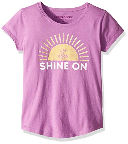 - Life is Good Girls Smiling Smooth Tee Sunrise, Happy Grape, XX-Large