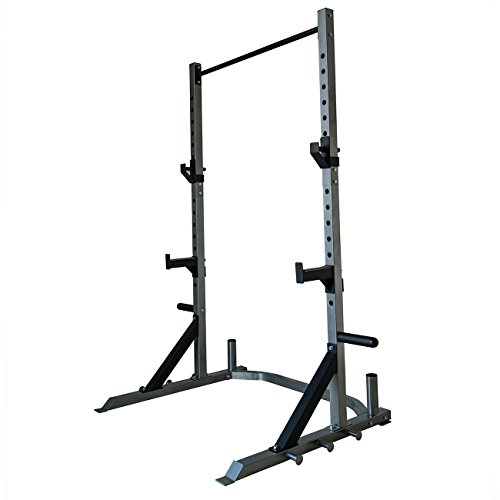 Akonza Barbell Deluxe Power Cage Rack Band Post Spotter Olympic Plate & Bar Storage by Akonza