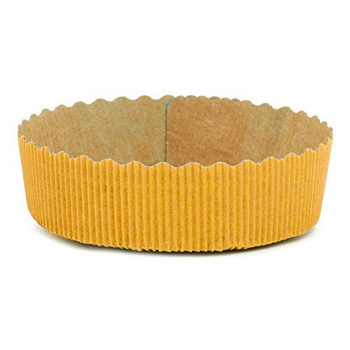 Tortina Tart Mold Use It For Your Chocolate Cakes Or Jelly Tarts! Apple Pie, Cherry Pie, Any Kind Of Pies, Yellow - 4'' x 1.3'' - Set of 25