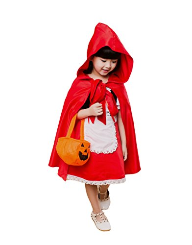 Pouresqueset: Halloween Role-play Costume Little Red Riding Hood Children Size (S, Red) (Little Red Riding Hood Costume For Kids)