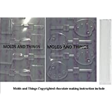Paint Brush Chocolate Candy Mold & Palette Lolly Chocolate Candy Mold With Candy Making Instruction