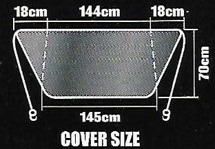 antiescarcha protecci/ón contra los rayos UVA 145/x 70 para parabrisas delantero de coche protector de parabrisas contra el sol y la nieve plegable Lona de parabrisas