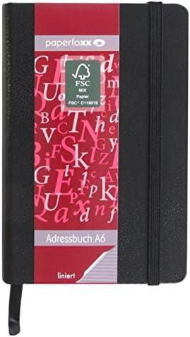 Paperfoxx 120147 Adressbuch, A6 liniert Grammatur 80 g/m²