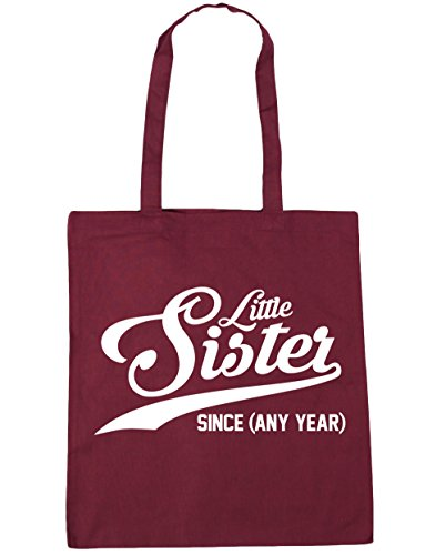 Gym Tote litres Year Sister x38cm Bag 10 Shopping Little 42cm Any PERSONALISED Since Beach HippoWarehouse Burgundy 68XqYE