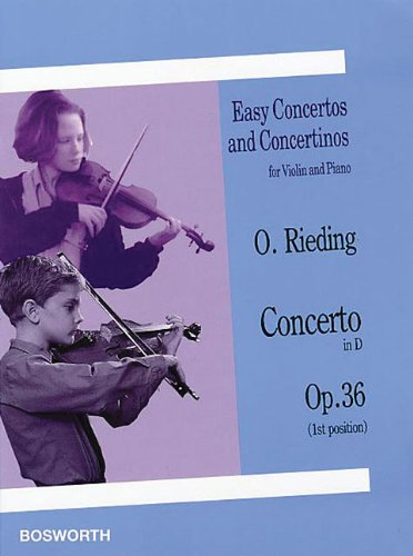 Read Online Concerto in D, Op. 36: Easy Concertos and Concertinos Series for Violin and Piano pdf