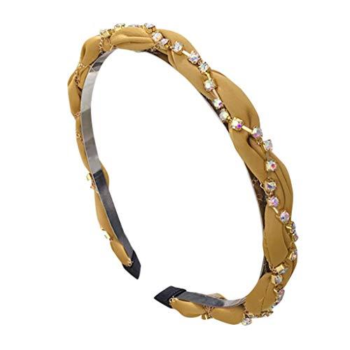 (LIM&Shop Cross Headband Sparkly Elastic Head Wrap Hairband Twisted Women Girls Hair Accessories Sequin Beads Hair Hoop)