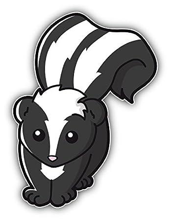 Amazon Com Cute Skunk Animal Art Decor Bumper Sticker 4 X 5