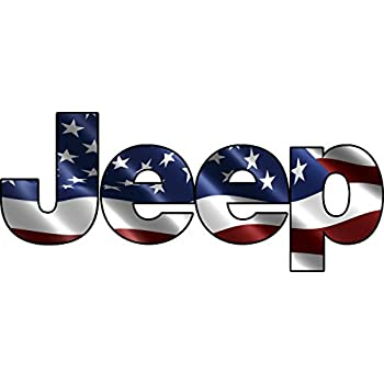Amazon Com Jeep Color Decal American Flag Decal 6 X 2 5