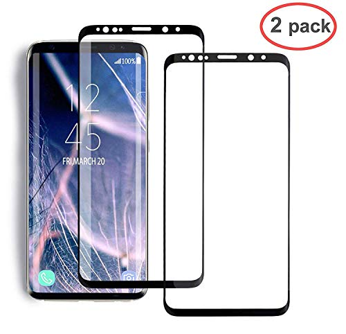 [2 Pack] YRMJK Galaxy S8 Screen Protector,[Case-Friendly][No Bubbles][Easy to Install][Anti Fingerprint][3D Full Coverage] Compatible Galaxy S8 Tempered Glass Screen Protector (5.8