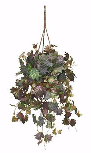 Extra-Full-Artificial-Maple-Ivy-Hanging-Basket-Silk-Plant-Arrangement-Decor
