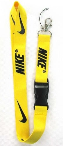 1 X Nike Yellow / Black Lanyard Keychain Holder