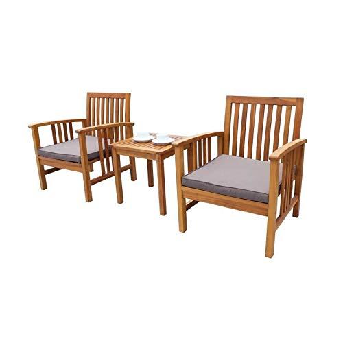 en Bois dacacia 45x45x45cm 1 Table et 2 fauteuils Générique ...