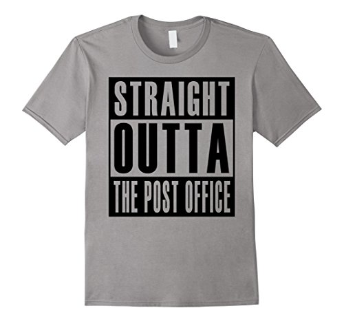Mens Straight Outta The Post Office T Shirt Us Postal Service 2Xl Slate