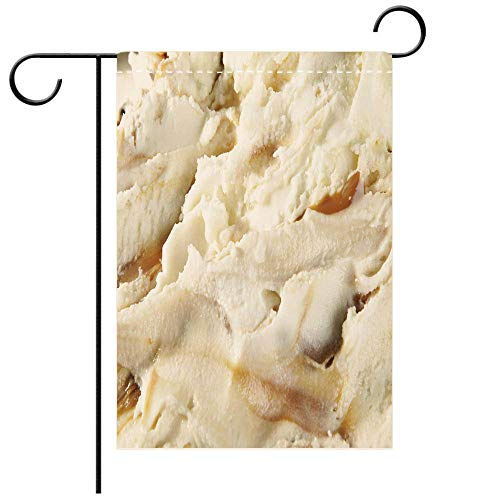 Dulce Sock - BEICICI Garden Flag Double Sided Decorative Flags Dulce de Leche Swirl Ice Cream Best for Party Yard and Home Outdoor Decor