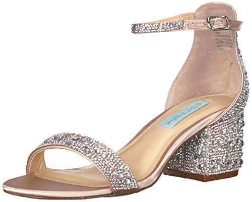 Blue by Betsey Johnson Women's SB-MARI Heeled Sandal, Champagne, 6.5 M US ()