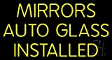 Mirror Auto Glass Installed Neon Sign 20'' Tall x 37'' Wide x 3'' Deep