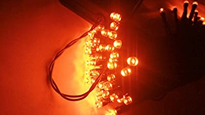 Halloween String Lights, 40ft 100 LED Orange Lights,8Modes, BLINGSTAR Solar Fairy Christmas Lights Ambiance lighting for Party, Garden,Patio, Yard, Home, Parties, Halloween Decoration?Orange?