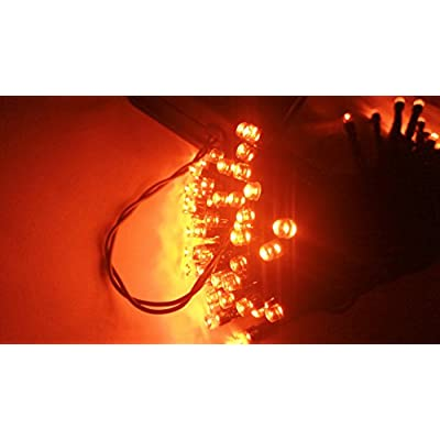 Blingstar Halloween String Lights, 40ft 100 LED Orange Lights, 8Modes, Solar Fairy Christmas Lights Ambiance Lighting for Party, Garden, Patio, Yard, Home, Parties, Halloween Decoration(Orange) : Garden & Outdoor