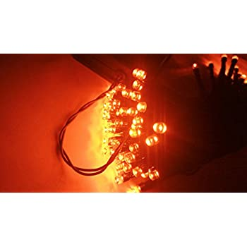 Amazoncom Halloween String Lights 40ft 100 LED Orange Lights