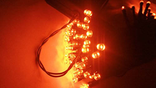 Halloween String Lights, 40ft 100 LED Orange Lights,8Modes, BLINGSTAR Solar Fairy Christmas Lights Ambiance lighting for Party, Garden,Patio, Yard, Home, Parties, Halloween Decoration(Orange)