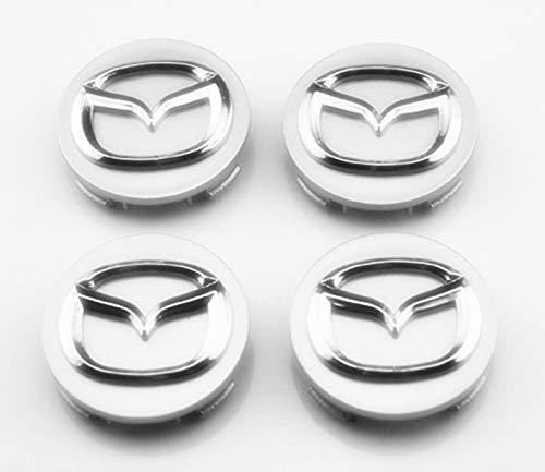 SXhhqhsm 4 Pcs 56mm Wheel Center Hub Caps Cover Apply to For Mazda 2 3 6 Atenza Axela CX-5 CX-7 CX-8