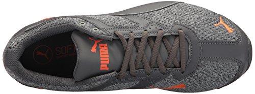 Puma Mens Tazon 6 Stickad Sneaker Stenbrott Tyst Skugga Chockerande Apelsin