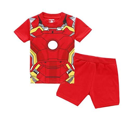 Rling Boys Shorts 2 Piece Pajama Set 100%