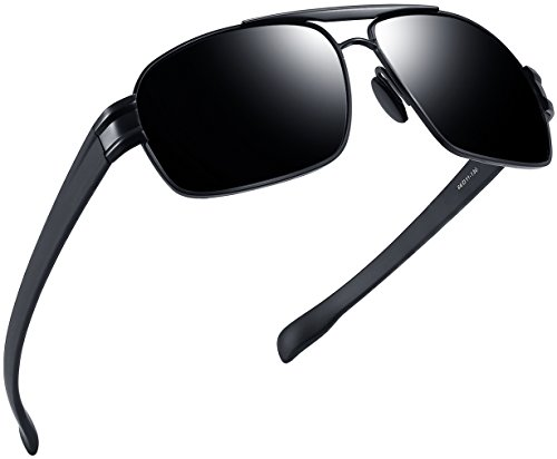 Joopin-Polarized Sunglasses Men Polaroid Driving Sun Glasses Mens Sunglass (Black Grey)
