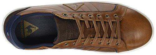 Le Coq Sportif Offcourt Leather Suede, Entrenadores Bajos para Hombre Marrón (Tortoise Shell)
