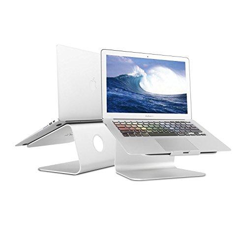 luinua 360Grad drehbar Aluminium Kühlung Laptop Ständer für Apple Macbook und alle Notebooks, Silber