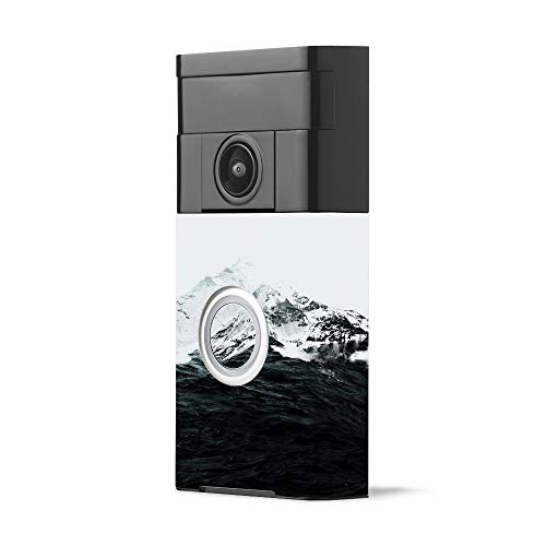 MightySkins Skin for Ring Video Doorbell - Mountain Waves | Protective, Durable, and Unique Vinyl Decal wrap Cover | Easy to Apply, Remove, and Change Styles | Made in The USA