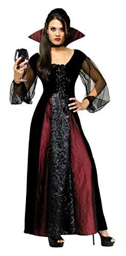 Goth Maiden Vampiress Adult Womens Costume Black/Red