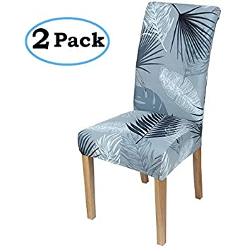 dining room chair slipcovers floral design | Amazon.com: Argstar 2pcs Chair Covers Dining Room Spendex ...
