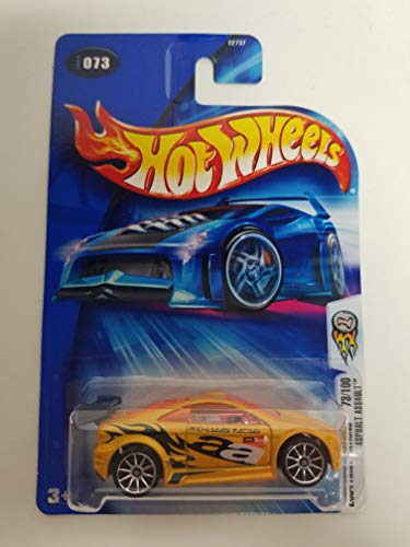 Asphalt Assault Yellow Color 10 Spoke Wheels 2004 First Editions 73/100 Hot Wheels Diecast Car No. -