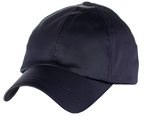D&Y Women's Adjustable Satin Feel Low Profile Baseball Dad Cap Hat, Dark Purple Purple Satin Hat