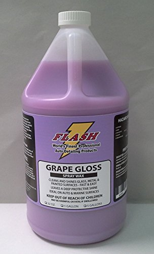 Flash Grape Gloss Teflon Spray Wax Detailer 128oz