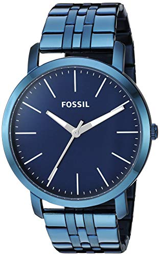 Fossil Men's Quartz Stainless-Steel Strap, Blue, 22 Casual Watch (Model: ()