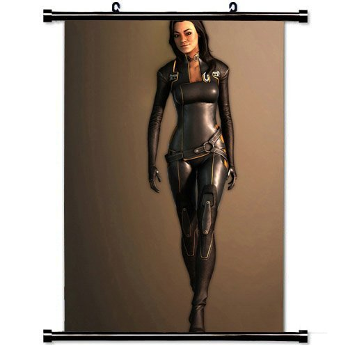 Wall Scroll Poster with Mass Effect Miranda Lawson Female Smile Walking Light Costume Home Decor Wall Posters Fabric Painting 23.6 X 35.4 (Miranda Lawson Costume)