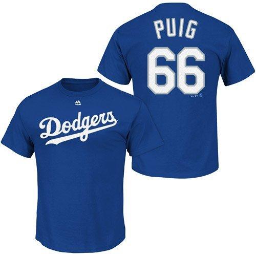 Yasiel Puig Majestic Name Number T-shirt Jersey Mens XL