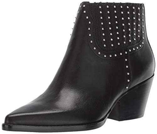 Dolce Vita Women's SETHE Ankle Boot, Black Leather, 7.5 M US