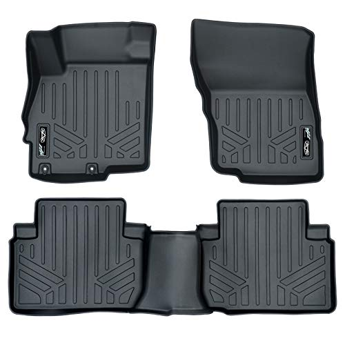 MAX LINER A0378/B0378 Custom Fit Floor Mats 2 Row Liner Set Black for 2018-2019 Mitsubishi Eclipse Cross