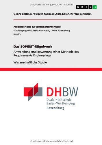 Das SOPHIST-REgelwerk (German Edition)