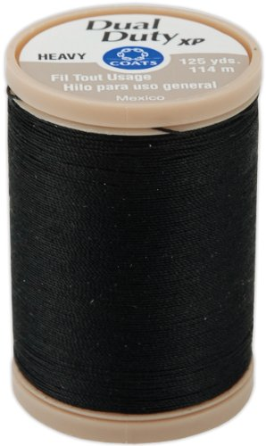 Pulled Thread Stitches - COATS & CLARK S950-0900 Dual Duty XP Heavy Thread, 125-Yard, Black