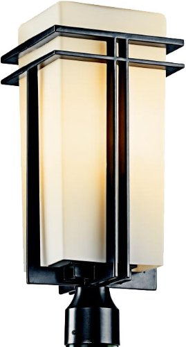 Kichler 49207BK Tremillo Outdoor Post Mount 1-Light, Black