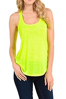 Racerback Neon Sports Workout Tank Tops