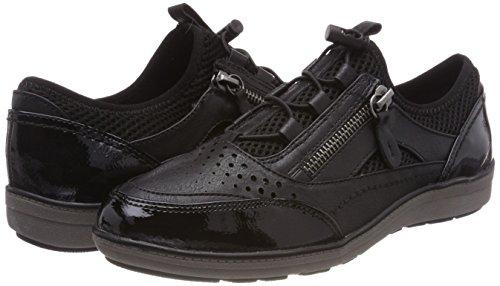 Low Softline 23664 Black Women''s top Sneakers fzwBqHUx