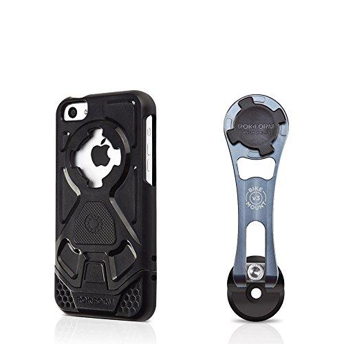 Rokform [iPhone 5c] Pro-Series Adjustable Aluminum Bike Mount / Holder & Protective Phone Case, Twist Lock & Magnetic Security by Rokform